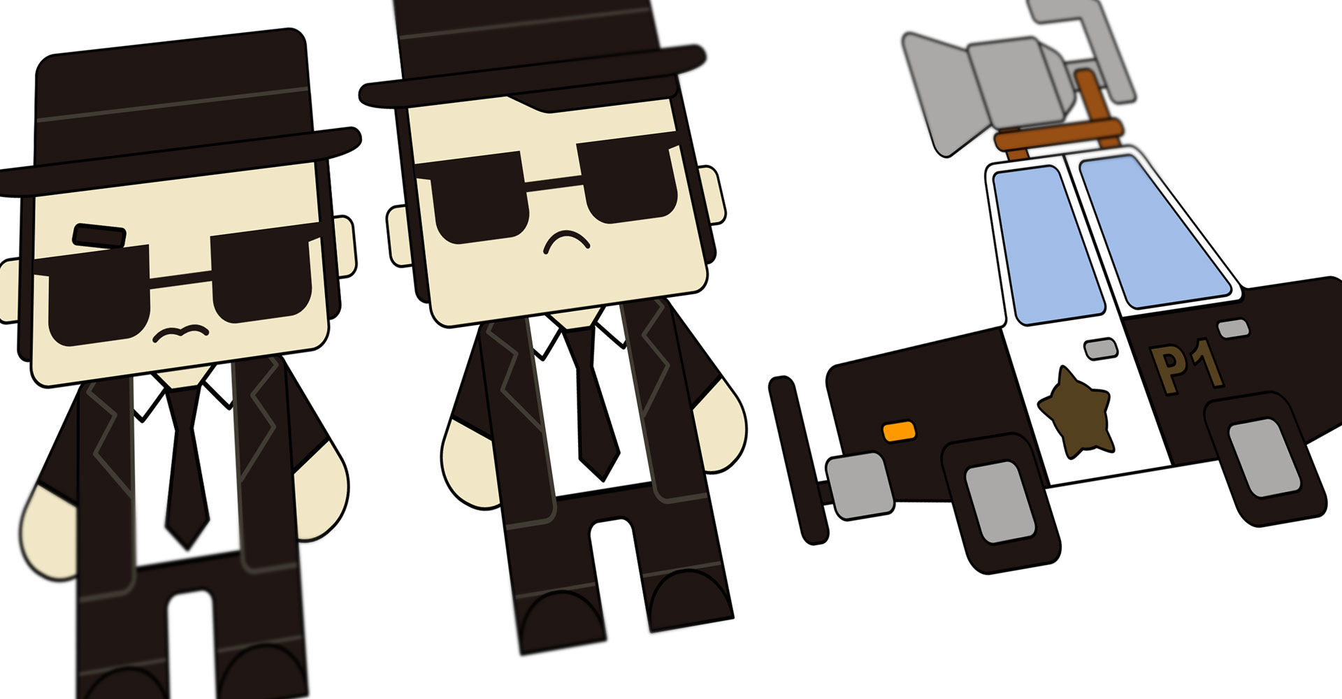 pixels - the blues brothers