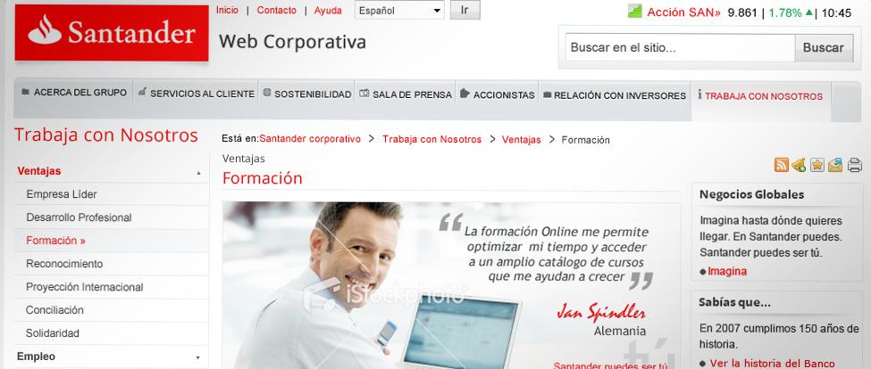 Santander - Corporate website