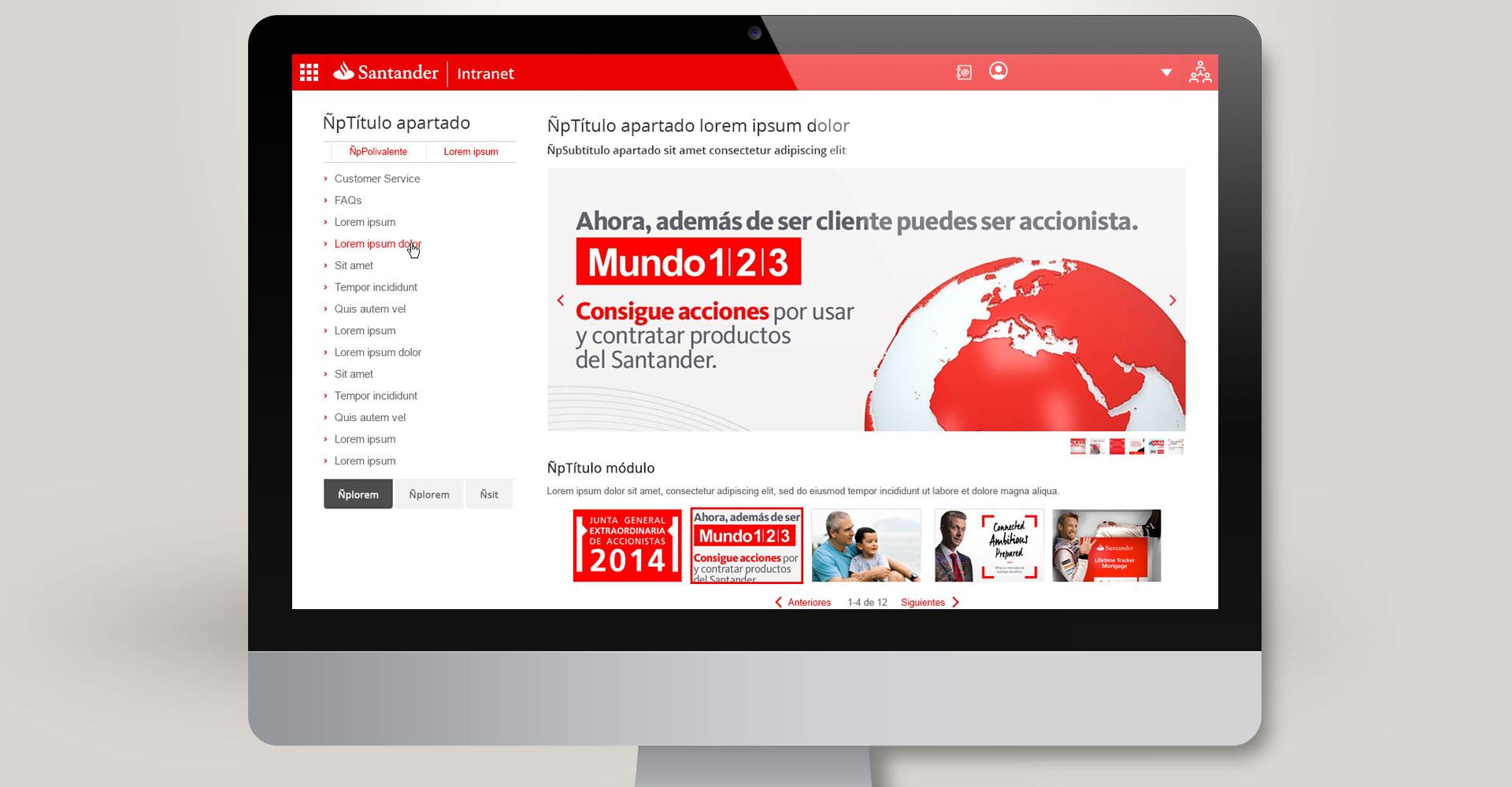 Santander - Intranet